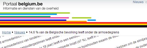 14,6 % van Belgen onder de armoedegrens